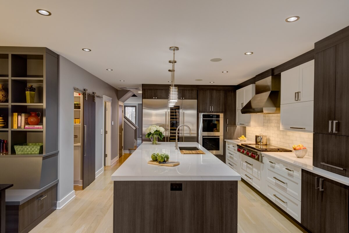 Dura Supreme Cabinetry featuring a mix of the Dempsey door style in