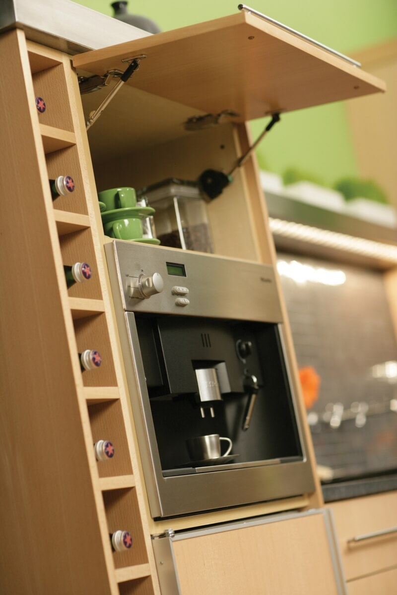 Vertical Wine Rack, all cabinetry by Dura Supreme