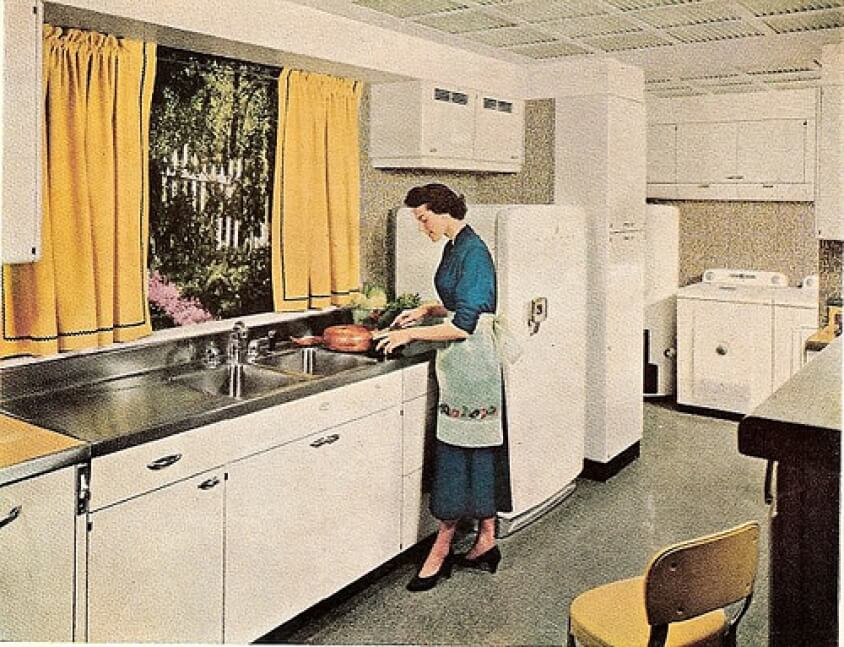An example of a 1970's kitchen.