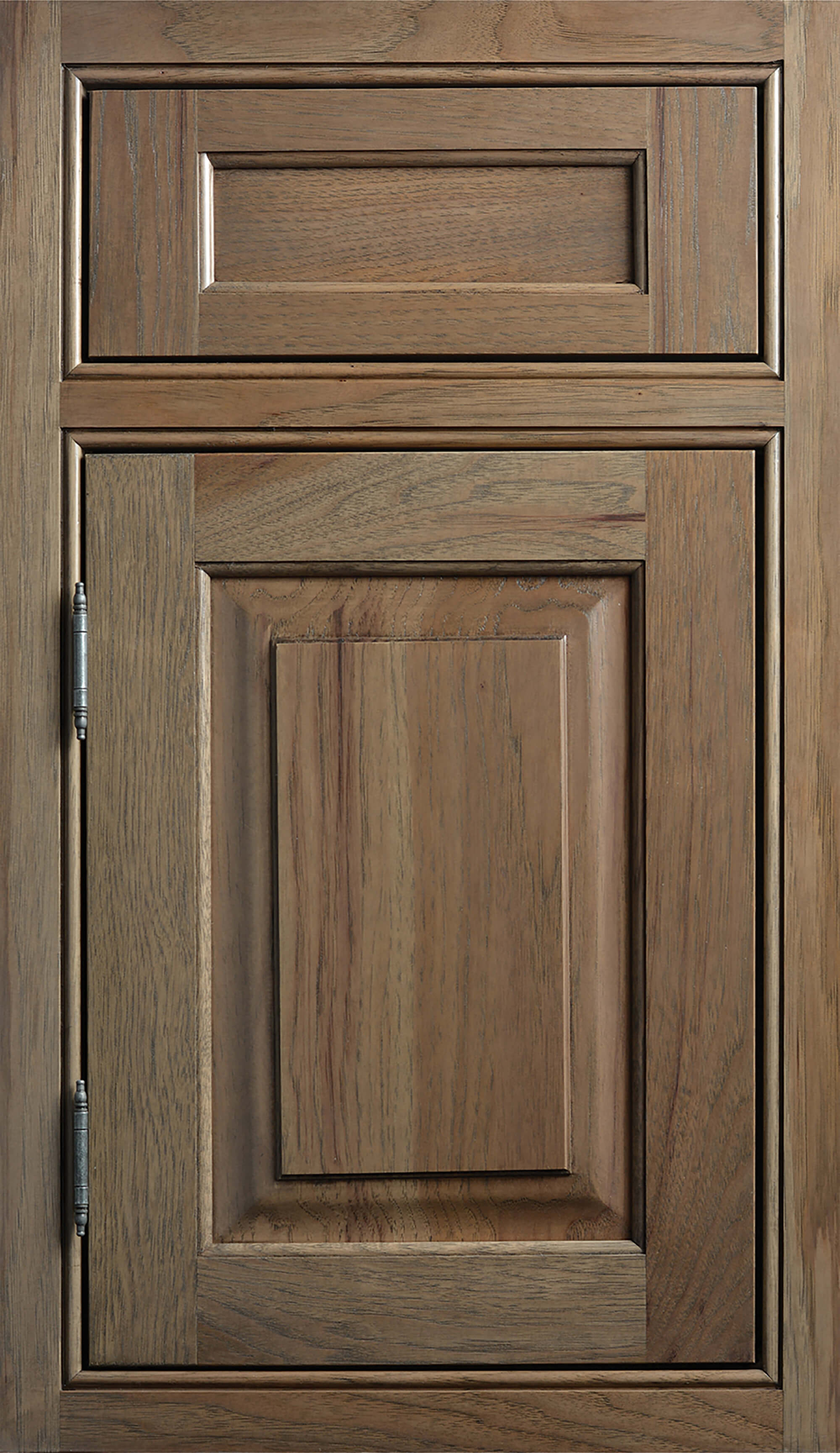 Dura Supreme Cabinetry, Inset Styling on the Kendall-Inset door style with Beaded Face Frame, one Barrel, and one Concealed Hinging