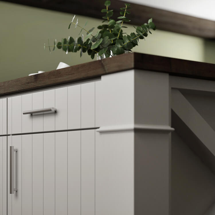 Kitchen Design 101: Appliance Landing Areas. Close up of a countertop zoned as a landing space