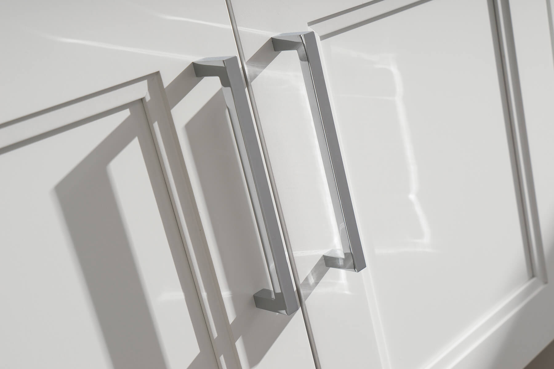 A close up of cabinet doors. Cabinet Storage ideas behind cabinet doors.