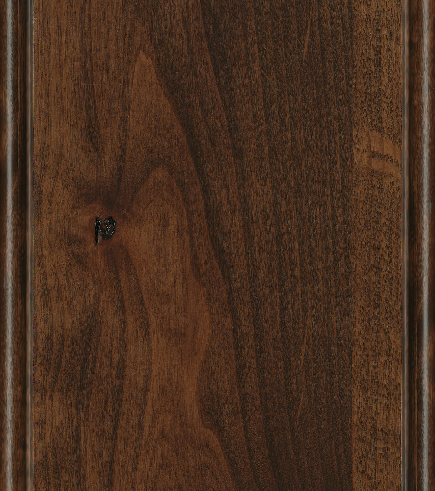 Cappuccino Stain on Knotty Alder