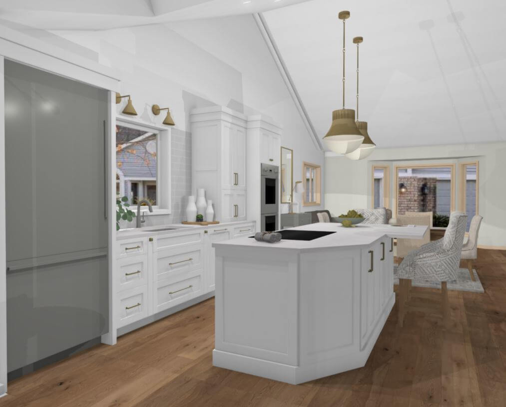 3d Render Drawing of the New Kitchen Design